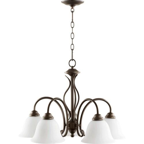 Spencer 5 Light Traditional Oiled Bronze Chandelier