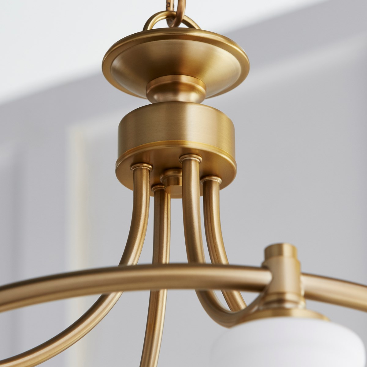 Rossington 4 Light Transitional Aged Brass Chandelier