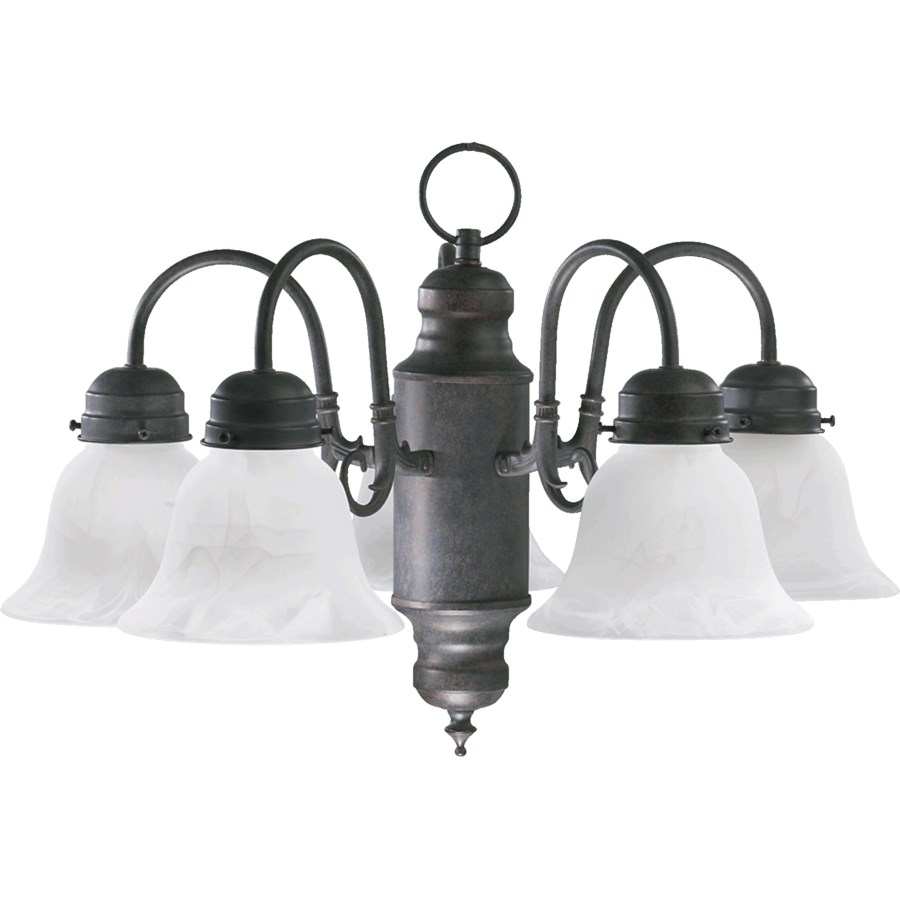 5 Light Traditional Oiled Bronze Chandelier