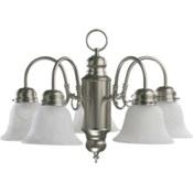 5 Light Traditional Satin Nickel Chandelier