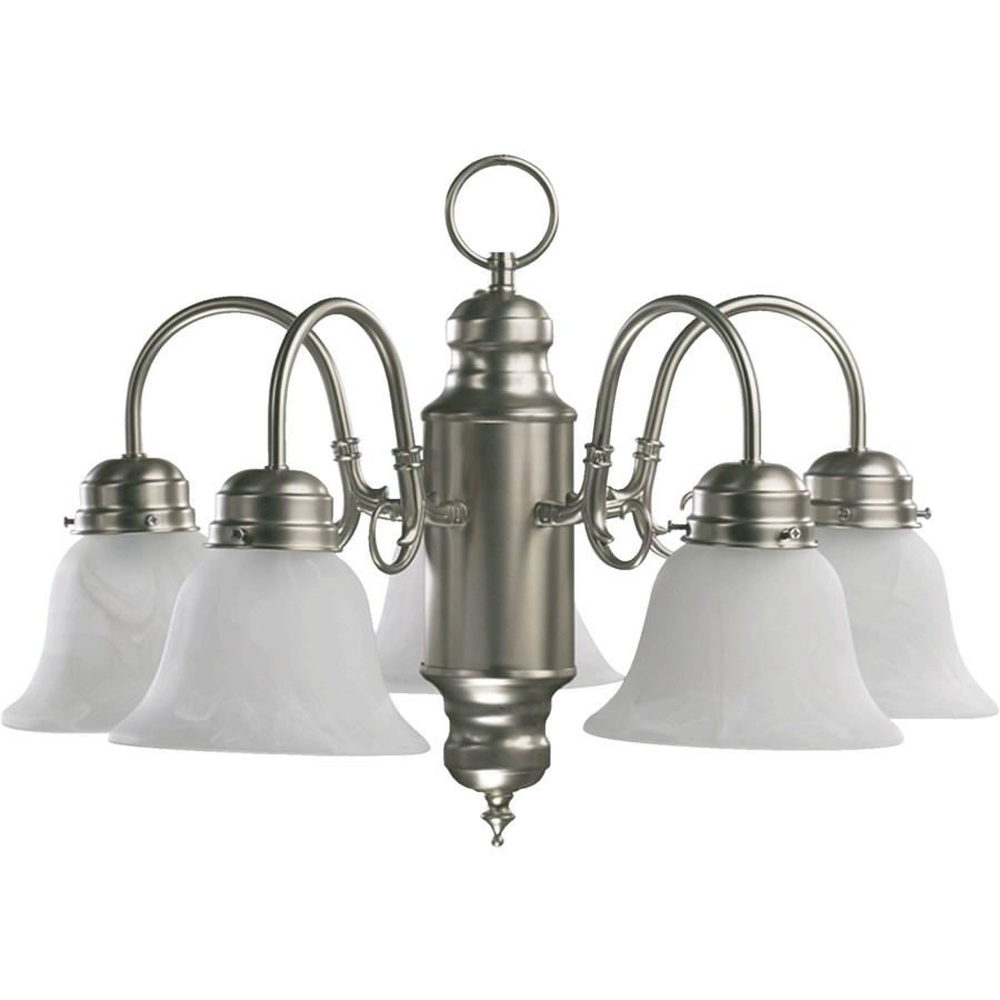 5 Light Traditional Satin Nickel Chandelier