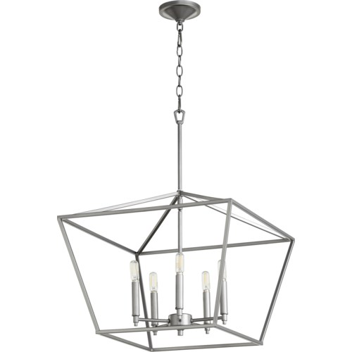 Gabriel 5 Light Traditional Classic Nickel Chandelier