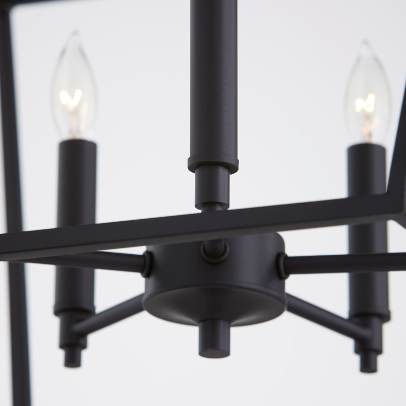Gabriel 5 Light Traditional Black Chandelier