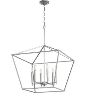Gabriel 6 Light Traditional Classic Nickel Chandelier