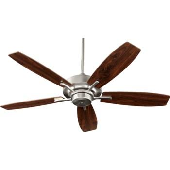 SOHO 52-in 5 Blade Satin Nickel Soft Contemporary Ceiling Fan