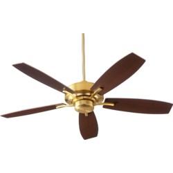 SOHO 52-in 5 Blade Aged Brass Transitional Ceiling Fan