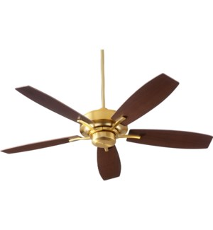 SOHO 52-in 5 Blade Aged Brass Transitional Ceiling Fan