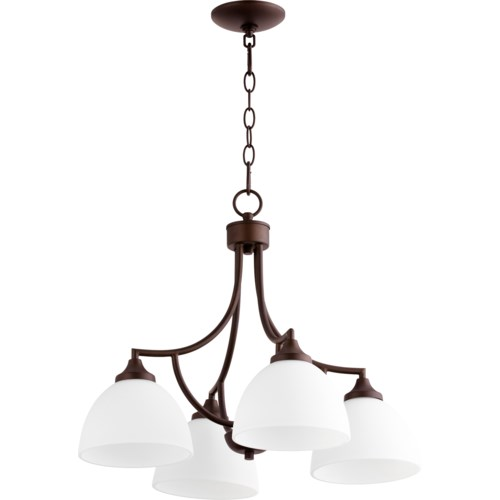 Enclave 4 Light Transitional Oiled Bronze Chandelier