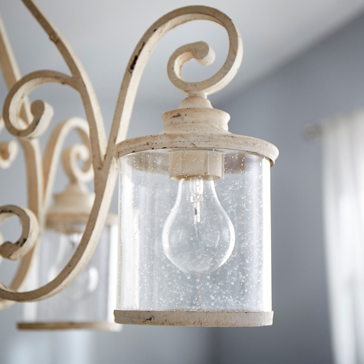 San Miguel 4 Light Traditional Persian White Chandelier