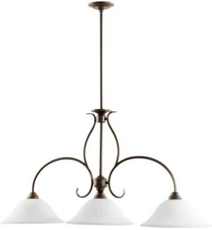 Spencer 3 Light Transitional Oiled Bronze Linear Pendant