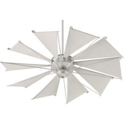 Mykonos 52-in 10 Blade Satin Nickel Transitional Ceiling Fan