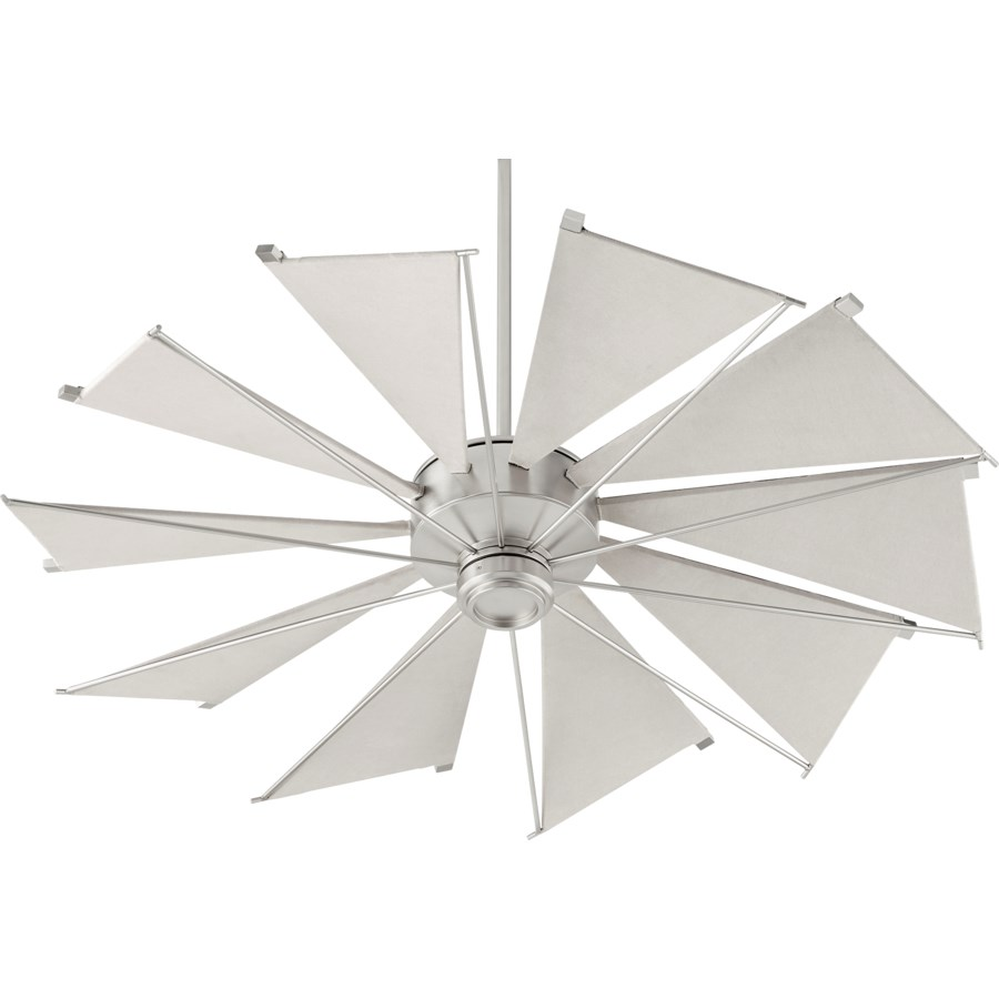 Mykonos 52-in 10 Blade Satin Nickel Transitional Ceiling Fan