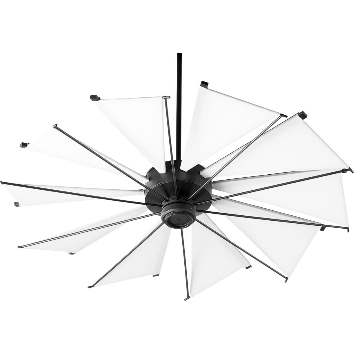 Mykonos 52-in 10 Blade Black Noir Transitional Ceiling Fan
