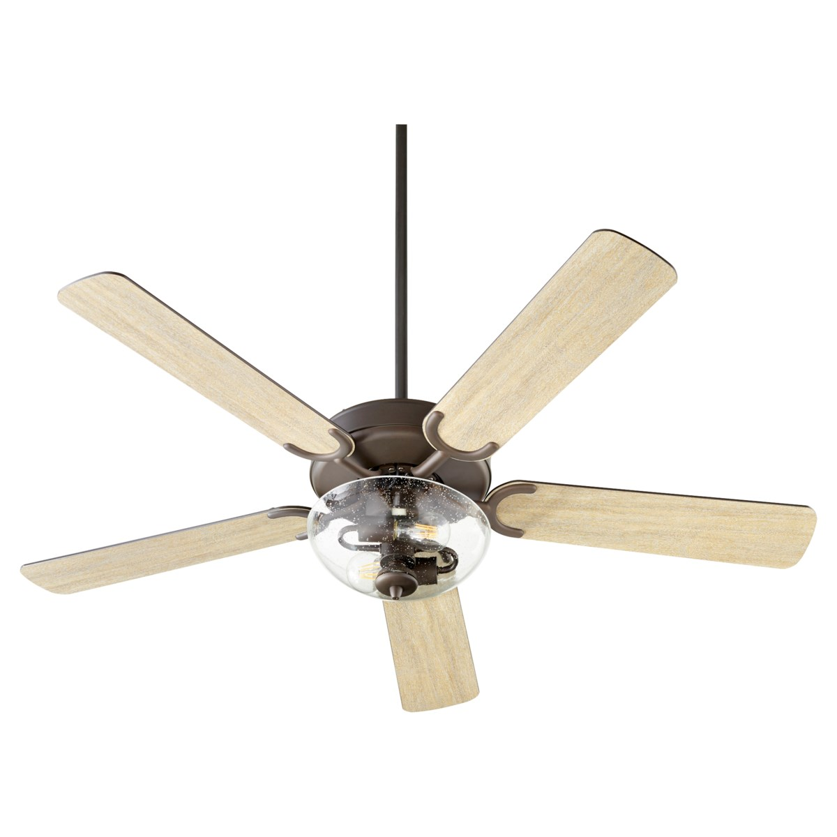 Virtue 52-in 5 Blade Oiled Bronze Transitional Ceiling Fan