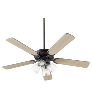 Virtue 52-in 5 Blade Matte Black Transitional Ceiling Fan