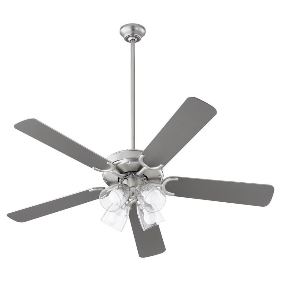 Virtue 52-in 5 Blade Satin Nickel Transitional Ceiling Fan