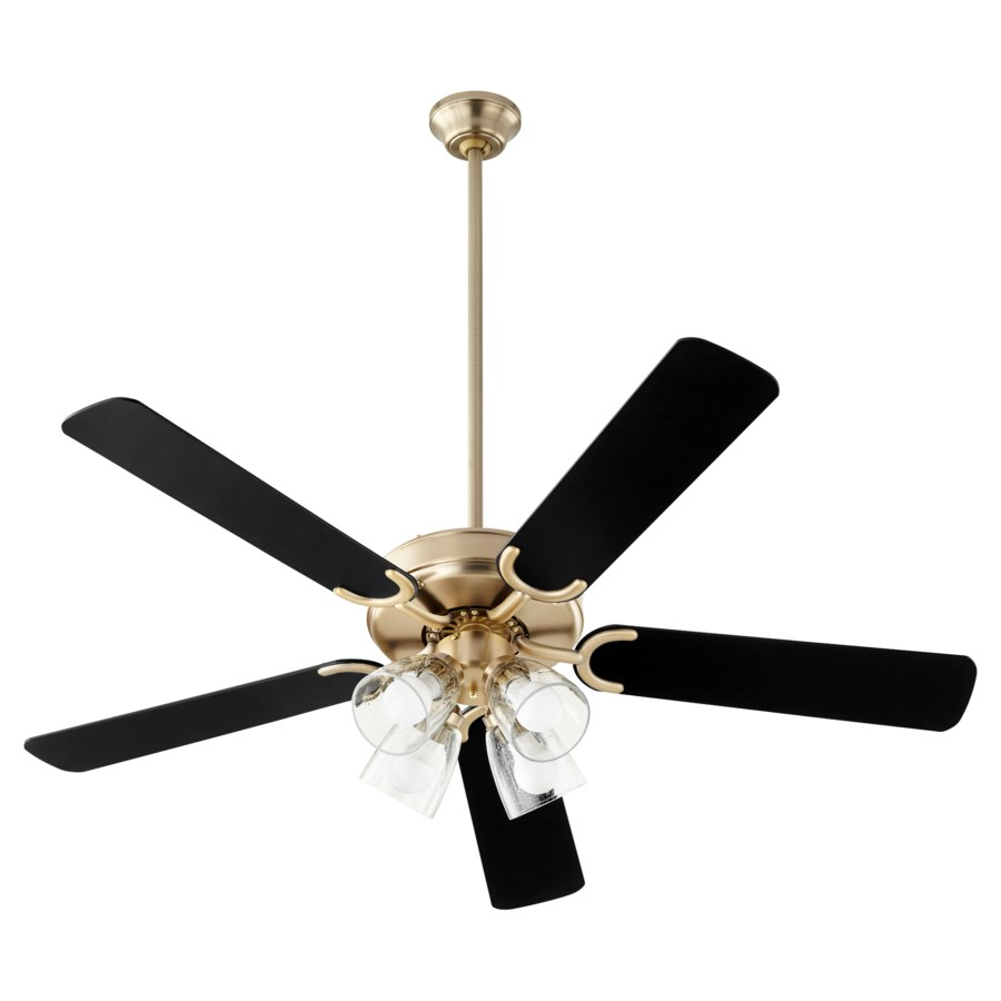Virtue 52-in 5 Blade Aged Brass Transitional Ceiling Fan