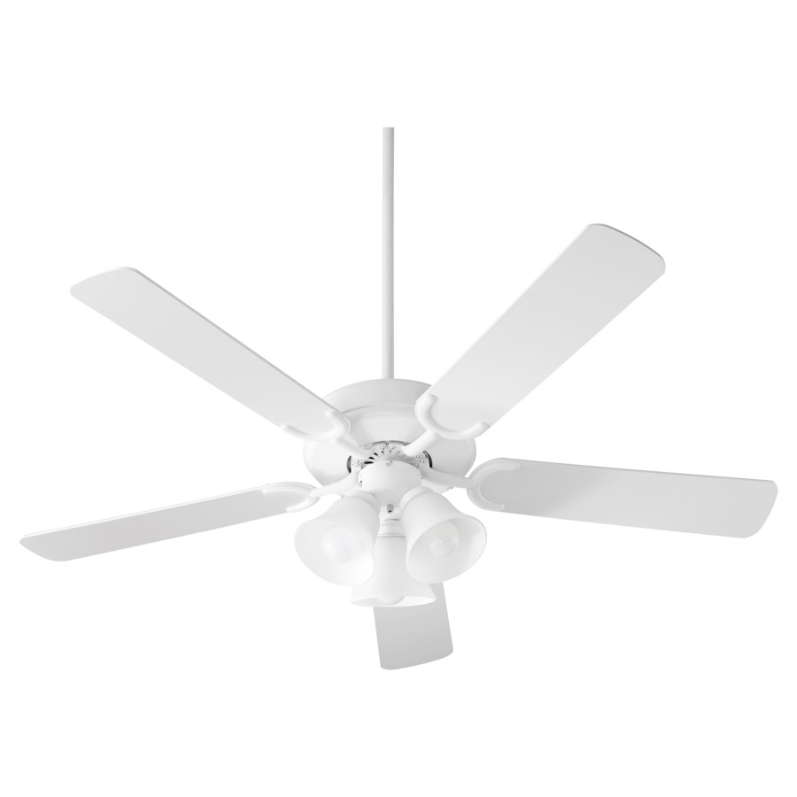 Virtue 52-in 5 Blade Studio White Transitional Ceiling Fan