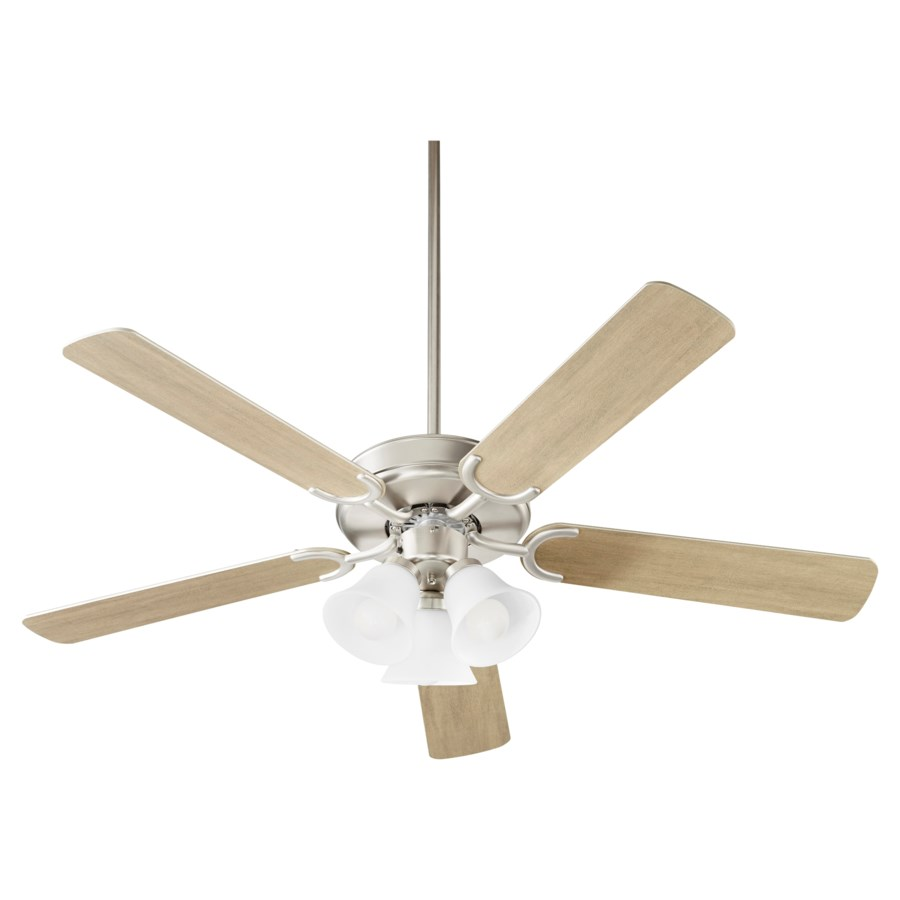 Virtue 52-in 5 Blade Satin Nickel Transitional Ceiling Fan