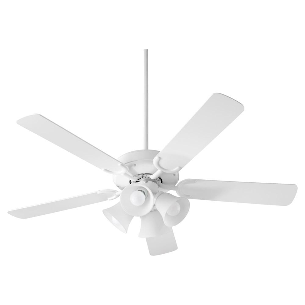 Virtue 52-in 5 Blade Studio White Transitional Ceiling Fan