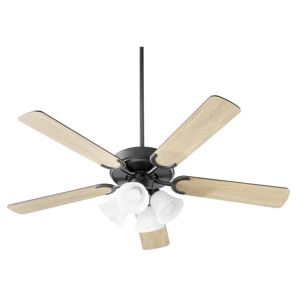Virtue 52-in 5 Blade Matte Black Transitional Ceiling Fan