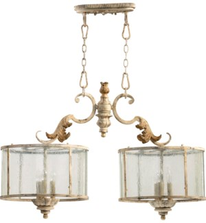 Florence 6 Light Traditional Persian White Linear Pendant