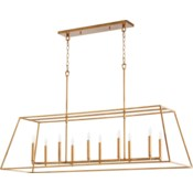 Gabriel Gold Leaf Traditional Linear Pendant
