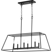 Gabriel Black Traditional Linear Pendant
