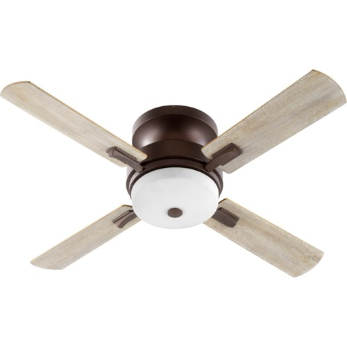 Davenport 52-in 4 Blade Oiled Bronze Transitional Ceiling Fan