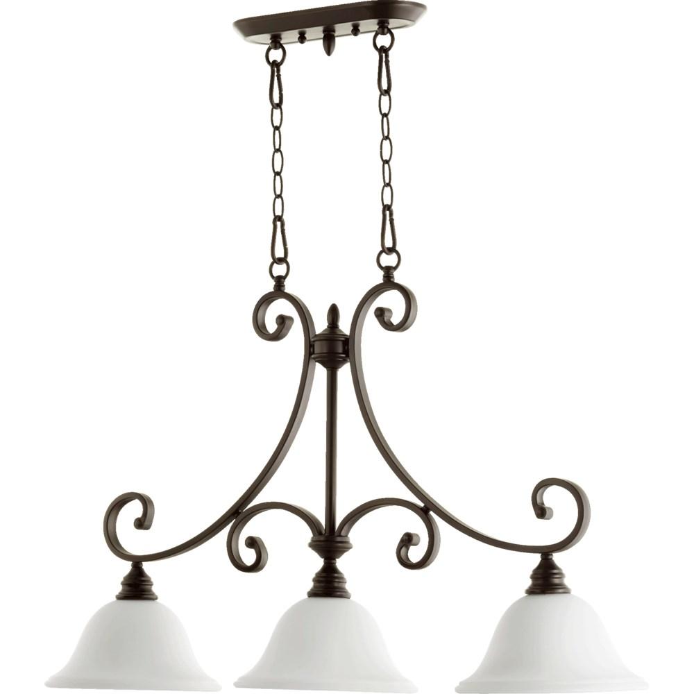 Bryant 3 Light Transitional Oiled Bronze Linear Pendant