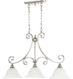 Bryant 3 Light Traditional Classic Nickel Linear Pendant