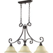 Bryant 3 Light Traditional Oiled Bronze Linear Pendant