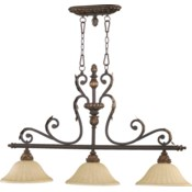 Rio Salado 3 Light Traditional Toasted Sienna Linear Pendant