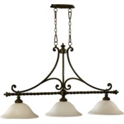 Alameda 3 Light Traditional Oiled Bronze  Linear Pendant