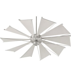 Mykonos 60-in 10 Blade Satin Nickel Transitional Ceiling Fan