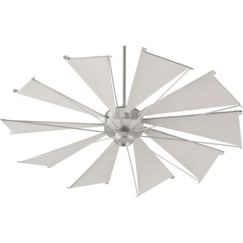 Mykonos 60-in 10 Blade Satin Nickel Transitional Ceiling Fan