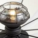 Mykonos 60-in 10 Blade Black Noir Transitional Ceiling Fan