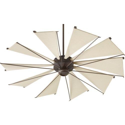 Mykonos 60-in 10 Blade Oiled Bronze Transitional Ceiling Fan