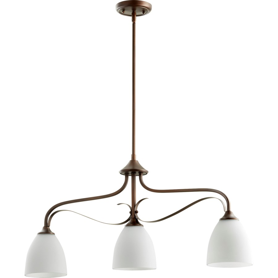 Jardin 3 Light Transitional Oiled Bronze Linear Pendant