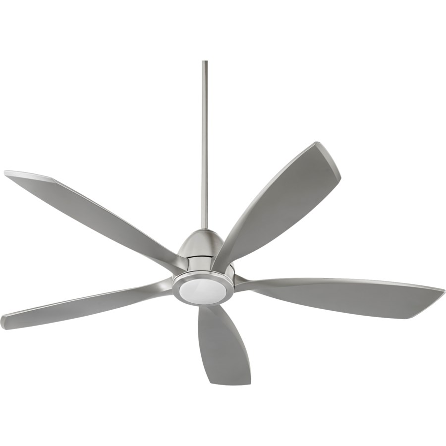 Holt 56-in 5 Blade Satin Nickel Modern and Contemporary Ceiling Fan