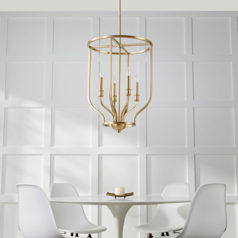 Richmond 4 Light Aged Brass Pendant