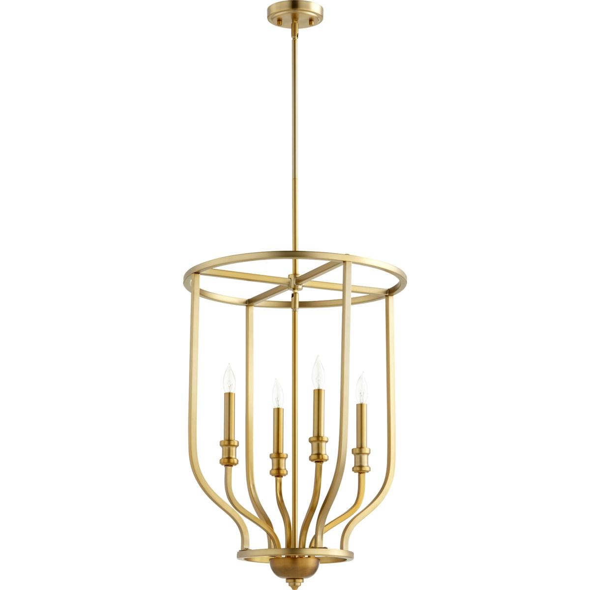 Richmond 4 Light Aged Brass Pendant