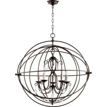 Cilia 5 Light Oiled Bronze  Transitional Chandelier