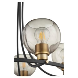 Clarion 5-Light Noir/Aged Brass Chandelier