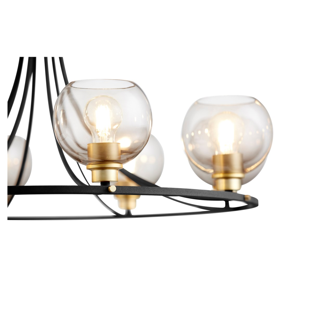 Clarion 8-Light Noir/Aged Brass Chandelier
