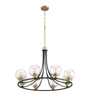 Clarion 8-Light Noir/Aged Brass Chandelier