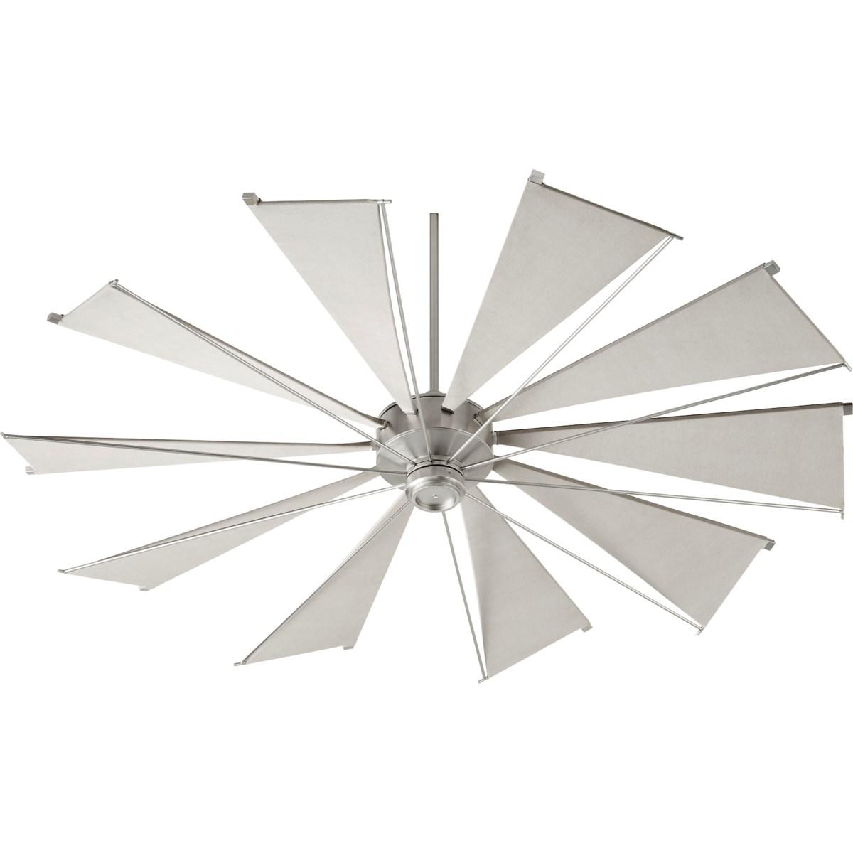 Mykonos 72-in 10 Blade Satin Nickel Transitional Ceiling Fan