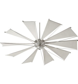 Mykonos 72-in 10 Blade Satin Nickel Transitional Ceiling Fan