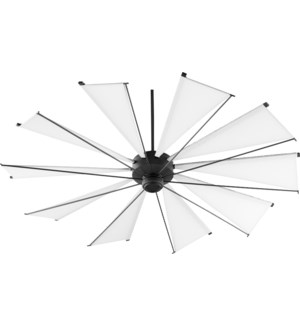Mykonos 72-in 10 Blade Black Noir Transitional Ceiling Fan