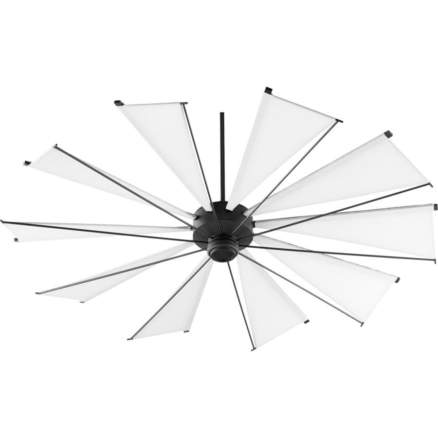 Mykonos 72-in 10 Blade Black Noir Transitional Ceiling Fan